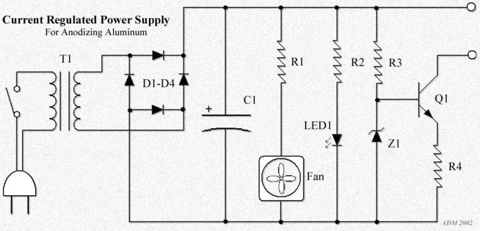 Schematic on 12 Volt Power Supply Schematic